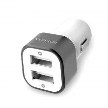 ROMOSS AM12 Electroplated Contactor Dual USB Car Charger