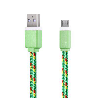 2M Micro USB Flat Braided Charger Cable