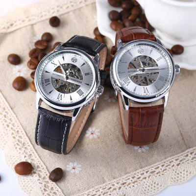 Forsining A694 Male Hollow Automatic Mechanical WatchMens Watches<br>Forsining A694 Male Hollow Automatic Mechanical Watch<br><br>Band material: Leather<br>Brand: Forsining<br>Case material: Stainless Steel<br>Clasp type: Pin buckle<br>Display type: Analog<br>Movement type: Automatic mechanical watch<br>Package Contents: 1 x Forsining A694 Hollow Automatic Mechanical Watch<br>Package size (L x W x H): 26.00 x 5.00 x 2.30 cm / 10.24 x 1.97 x 0.91 inches<br>Package weight: 0.1240 kg<br>Product size (L x W x H): 25.00 x 4.00 x 1.30 cm / 9.84 x 1.57 x 0.51 inches<br>Product weight: 0.0640 kg<br>Shape of the dial: Round<br>Special features: Luminous<br>Style elements: Hollow Out<br>The band width: 2.1 cm / 0.83 inches<br>The bottom of the table: Gone<br>The dial diameter: 4 cm / 1.57 inches<br>The dial thickness: 1.3 cm / 0.51 inches<br>Watch style: Hollow-out<br>Watch-head: Screw-plug<br>Watches categories: Male table<br>Wearable length: 18.5 - 22.5 cm / 7.28 - 8.86 inches