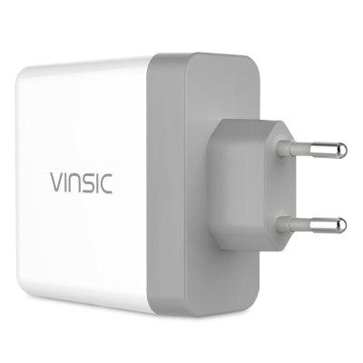 Vinsic QC 3.0 36W Wall Travel Charger Adapter Dual USB Port