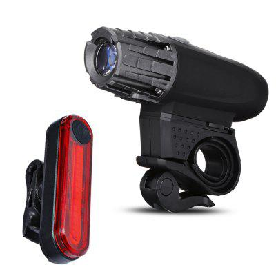 Rechargeable 320 Lumen Bicycle Front Light Tail Lamp Set