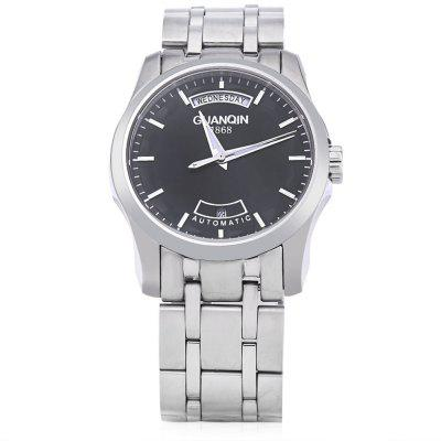GUANQIN GJ16027 Men Auto Mechanical WatchMens Watches<br>GUANQIN GJ16027 Men Auto Mechanical Watch<br><br>Band Length: 8.03 inch<br>Band Material Type: Stainless Steel<br>Band Width: 22 mm<br>Case material: Alloy<br>Case Shape: Round<br>Clasp type: Butterfly Clasp<br>Dial Diameter: 1.55 inch<br>Dial Display: Analog<br>Dial Window Material Type: Sapphire<br>Feature: Luminous, Day, Date<br>Gender: Men<br>Movement: Automatic Self-Wind<br>Package Contents: 1 x GUANQIN GJ16027 Men Auto Mechanical Watch<br>Package Size(L x W x H): 11.20 x 5.20 x 2.00 cm / 4.41 x 2.05 x 0.79 inches<br>Package weight: 0.192 kg<br>Product Size(L x W x H): 20.40 x 4.20 x 1.00 cm / 8.03 x 1.65 x 0.39 inches<br>Product weight: 0.171 kg<br>Style: Dress, Business<br>Water Resistance Depth: 30m