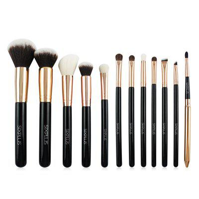SIXPLUS 12pcs Makeup Tool Brush with Bag