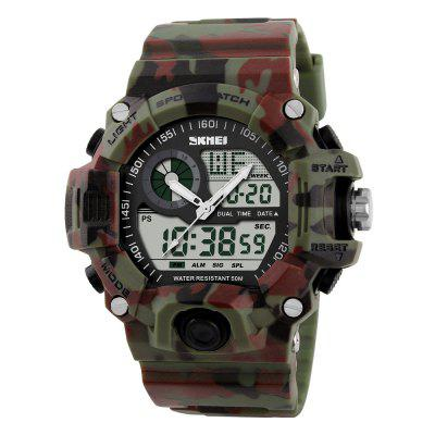 Skmei 1029 Double Movt Army LED Montre