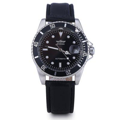 Winner W098 Men Mechanical WatchMens Watches<br>Winner W098 Men Mechanical Watch<br><br>Available Color: White<br>Band color: Black<br>Band material: Leather<br>Brand: Winner<br>Case material: Stainless Steel<br>Clasp type: Pin buckle<br>Display type: Digital<br>Hour formats: 12 Hour<br>Movement type: Automatic mechanical watch<br>Package Contents: 1 x Winner W098 Men Mechanical Watch<br>Package size (L x W x H): 25.00 x 5.20 x 2.20 cm / 9.84 x 2.05 x 0.87 inches<br>Package weight: 0.1250 kg<br>Product size (L x W x H): 24.00 x 4.20 x 1.20 cm / 9.45 x 1.65 x 0.47 inches<br>Product weight: 0.0650 kg<br>Shape of the dial: Round<br>Special features: Date<br>The band width: 2 cm / 0.79 inches<br>The dial diameter: 3.9 cm / 1.54 inches<br>The dial thickness: 1.2 cm / 0.47 inches<br>Watch style: Fashion, Casual<br>Watches categories: Male table<br>Water resistance: Life water resistant<br>Wearable length: 18 cm - 22 cm / 7.09 - 8.66 inches