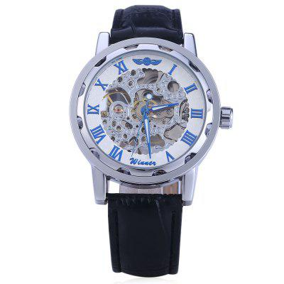 Winner W001 Men Hollow Mechanical WatchMens Watches<br>Winner W001 Men Hollow Mechanical Watch<br><br>Band material: Leather<br>Brand: Winner<br>Case material: Stainless Steel<br>Clasp type: Pin buckle<br>Display type: Analog<br>Movement type: Mechanical watch<br>Package Contents: 1 x Winner W001 Men Hollow Mechanical Watch<br>Package size (L x W x H): 26.00 x 5.00 x 2.10 cm / 10.24 x 1.97 x 0.83 inches<br>Package weight: 0.1190 kg<br>Product size (L x W x H): 25.00 x 4.00 x 1.10 cm / 9.84 x 1.57 x 0.43 inches<br>Product weight: 0.0590 kg<br>Shape of the dial: Round<br>Special features: Luminous<br>Style elements: Hollow Out<br>The band width: 1.9 cm / 0.75 inches<br>The bottom of the table: Gone<br>The dial diameter: 4 cm / 1.57 inches<br>The dial thickness: 1.1 cm / 0.43 inches<br>Watch style: Hollow-out<br>Watches categories: Male table<br>Water resistance: Life water resistant<br>Wearable length: 19 - 23 cm / 7.48 - 9.06 inches