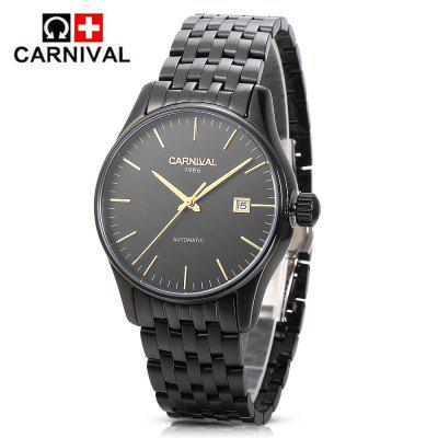 CARNIVAL 8612G Auto Mechanical Men WatchMens Watches<br>CARNIVAL 8612G Auto Mechanical Men Watch<br><br>Band Length: 6.42 inch<br>Band Material Type: Stainless Steel<br>Band Width: 20mm<br>Case material: Stainless Steel<br>Case Shape: Round<br>Case Thickness: 0.47 inch<br>Clasp type: Butterfly Clasp<br>Dial Diameter: 1.69 inch<br>Dial Display: Analog<br>Dial Window Material Type: Hardlex<br>Feature: Date<br>Gender: Men<br>Movement: Automatic Self-Wind<br>Package Contents: 1 x Watch, 1 x Box<br>Package Size(L x W x H): 11.20 x 13.30 x 7.60 cm / 4.41 x 5.24 x 2.99 inches<br>Package weight: 0.3450 kg<br>Product Size(L x W x H): 21.00 x 4.70 x 1.20 cm / 8.27 x 1.85 x 0.47 inches<br>Product weight: 0.1210 kg<br>Style: Business<br>Water Resistance Depth: 30m