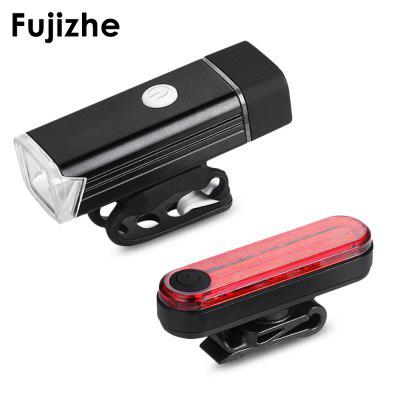 Fujizhe USB Rechargeable Bicycle Light Set Headlight Taillight