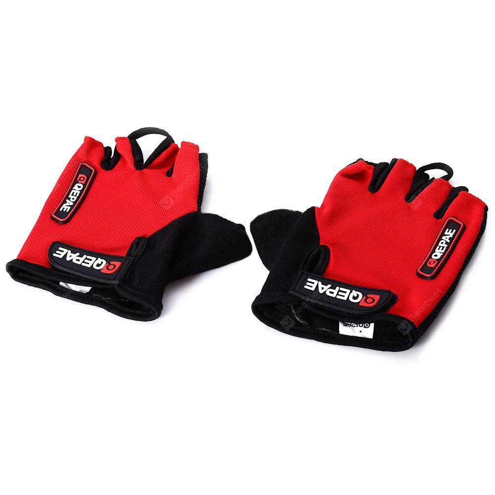2PCS Comfortable L Size Bicycle Bike Silicone Half Finger Gloves Cycling Gloves