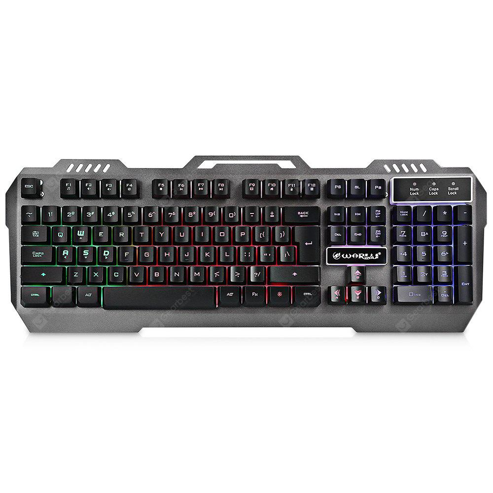 Warwolf K12 Wired Membrane Keyboard with RGB LED Backlight 104 Keys