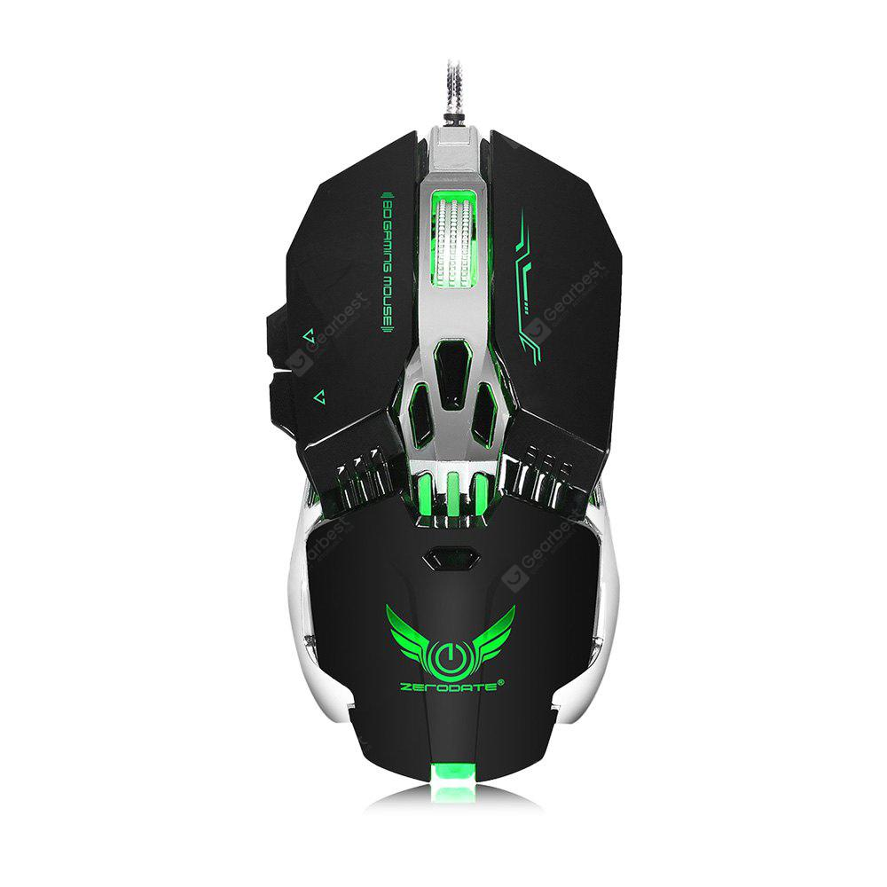 ZERODATE X800 Wired Gaming Mouse with LED light