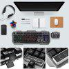 Warwolf K12 Wired Membrane Keyboard with RGB LED Backlight 104 Keys - BLACK