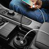 HOCO UC207 Multifunctional Cup Shape Car Charger Dual USB - BLACK