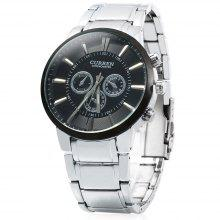 CURREN 8001 Big Dial Male Quartz Watch with Stainless Steel Band