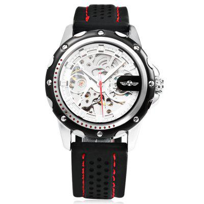 Winner Male Auto Mechanical Luminous WatchMens Watches<br>Winner Male Auto Mechanical Luminous Watch<br><br>Band Length: 8.66 inch<br>Band Material Type: Silicone<br>Band Width: 20mm<br>Case material: Alloy<br>Case Shape: Round<br>Clasp type: Pin Buckle<br>Dial Diameter: 1.77 inch<br>Dial Display: Analog<br>Dial Window Material Type: Hardlex<br>Feature: Luminous<br>Gender: Men<br>Movement: Automatic Self-Wind<br>Package Contents: 1 x Watch<br>Package Size(L x W x H): 27.50 x 6.00 x 2.00 cm / 10.83 x 2.36 x 0.79 inches<br>Package weight: 0.103 kg<br>Product Size(L x W x H): 26.00 x 5.00 x 1.00 cm / 10.24 x 1.97 x 0.39 inches<br>Product weight: 0.082 kg<br>Style: Business