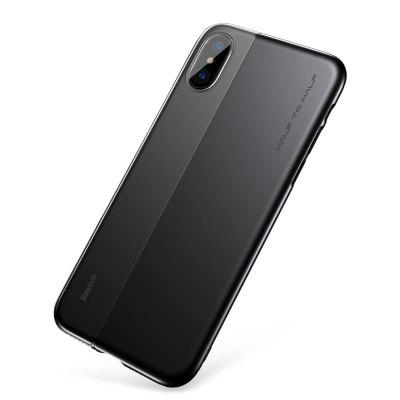 Baseus Half to Half Case TPU + PC Back Cover for iPhone X