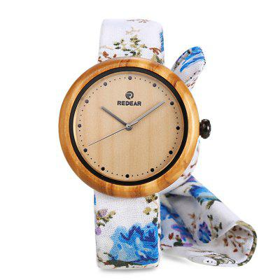 REDEAR 1692 Women Quartz Wooden Watch