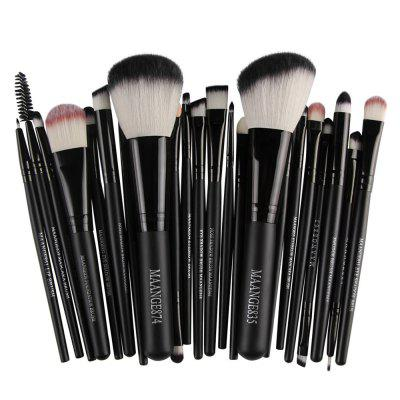 MAANGE 22pcs Foundation Blush Eyebrow Lip Makeup Brushes