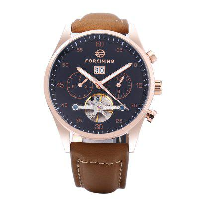 FORSINING A691 Men Auto Mechanical WatchMens Watches<br>FORSINING A691 Men Auto Mechanical Watch<br><br>Band Length: 8.45 inch<br>Band Material Type: Genuine Leather<br>Band Width: 20mm<br>Case material: Stainless Steel<br>Case Shape: Round<br>Clasp type: Pin Buckle<br>Dial Diameter: 1.72 inch<br>Dial Display: Analog<br>Dial Window Material Type: Hardlex<br>Feature: Luminous, Day, Date<br>Gender: Men<br>Movement: Automatic Self-Wind<br>Package Contents: 1 x FORSINING A691 Men Auto Mechanical Watch<br>Package Size(L x W x H): 27.00 x 5.50 x 2.30 cm / 10.63 x 2.17 x 0.91 inches<br>Package weight: 0.103 kg<br>Product Size(L x W x H): 26.00 x 4.50 x 1.30 cm / 10.24 x 1.77 x 0.51 inches<br>Product weight: 0.082 kg<br>Style: Business