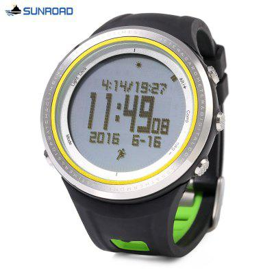 SUNROAD FR800NA Multifunctional Digital Sports WatchSports Watches<br>SUNROAD FR800NA Multifunctional Digital Sports Watch<br><br>Band Length: 8.27 inch<br>Band Material Type: Rubber<br>Band Width: 22mm<br>Case material: Stainless Steel<br>Case Shape: Round<br>Clasp type: Pin Clasp<br>Dial Diameter: 1.89 inch<br>Dial Display: Digital<br>Dial Window Material Type: Glass<br>Feature: Luminous, Led Display, Fitness Tracker, Compass, Chronograph, Back Light, Altimeter, Alarm<br>Gender: Men<br>Movement: Digital<br>Package Contents: 1 x SUNROAD FR800NA Sports Watch, 1 x Chinese and English Manual, 1 x Cloth, 1 x Button Cell<br>Package Size(L x W x H): 10.50 x 10.50 x 8.50 cm / 4.13 x 4.13 x 3.35 inches<br>Package weight: 0.2700 kg<br>Product Size(L x W x H): 25.00 x 5.00 x 1.50 cm / 9.84 x 1.97 x 0.59 inches<br>Product weight: 0.0800 kg<br>Style: Sport<br>Water Resistance Depth: 50m