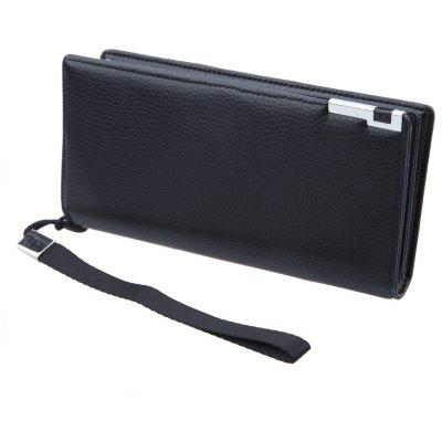 Baellerry Lichee Metal Clip Portable Clutch Wallet
