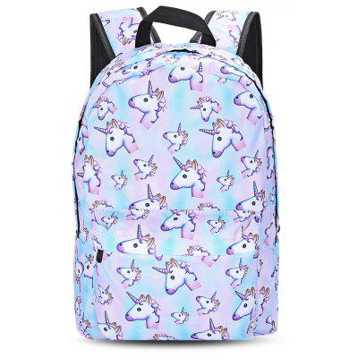 Buy BLUE Guapabien Traveling Girls 3D Unicorn Print Backpack School Bag for $17.85 in GearBest store