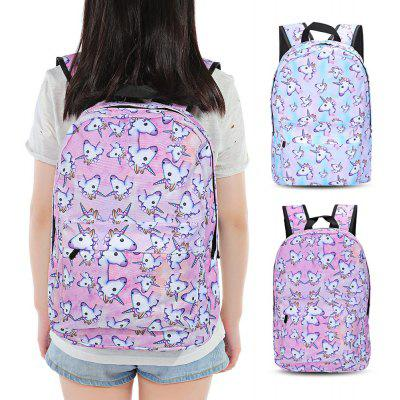 Guapabien Traveling Girls 3D Unicorn Print Backpack School Bag от GearBest.com INT