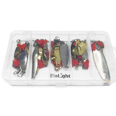 ELELIGHT 34pcs / Set Artificial Fishing Hard Metal Fishing LureFishing Baits and Hooks<br>ELELIGHT 34pcs / Set Artificial Fishing Hard Metal Fishing Lure<br><br>Package Contents: 33 x Fishing Lure, 1 x Plastic Box<br>Package Size(L x W x H): 21.50 x 12.00 x 5.00 cm / 8.46 x 4.72 x 1.97 inches<br>Package weight: 0.2700 kg<br>Product weight: 0.2600 kg