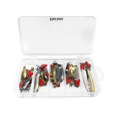 ELELIGHT 34pcs / Set Artificial Fishing Hard Metal Fishing Lure