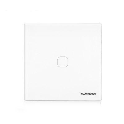 SESOO Smart Touch Screen Light Switch 1-gang 1-wayOther Home Improvement<br>SESOO Smart Touch Screen Light Switch 1-gang 1-way<br><br>Package Contents: 1 x Smart Light Switch, 1 x Remote Control, 1 x English User Manual<br>Package Size(L x W x H): 9.00 x 9.00 x 4.00 cm / 3.54 x 3.54 x 1.57 inches<br>Package weight: 0.1590 kg<br>Product Size(L x W x H): 8.60 x 8.60 x 3.60 cm / 3.39 x 3.39 x 1.42 inches<br>Product weight: 0.1140 kg