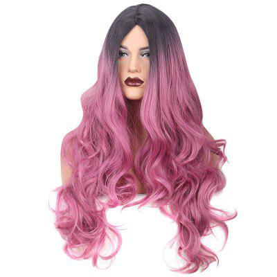 Women Gradient Wavy Side Bang Synthetic Wig