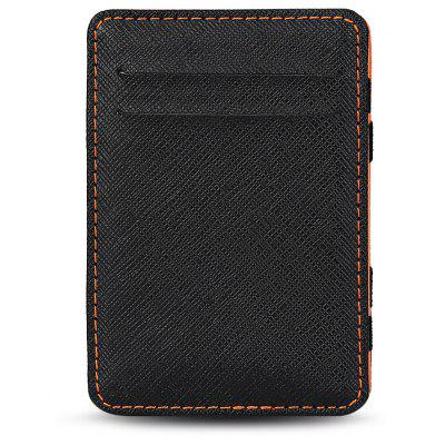 Guapabien Casual Estilo PU Card Holder Money Clip para los hombres