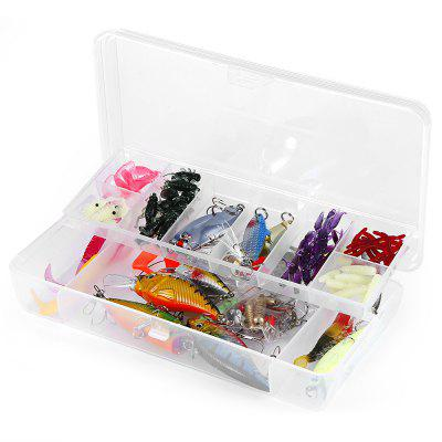 101pcs Artificial Bait Fishing Gear with Mixed Hooks
