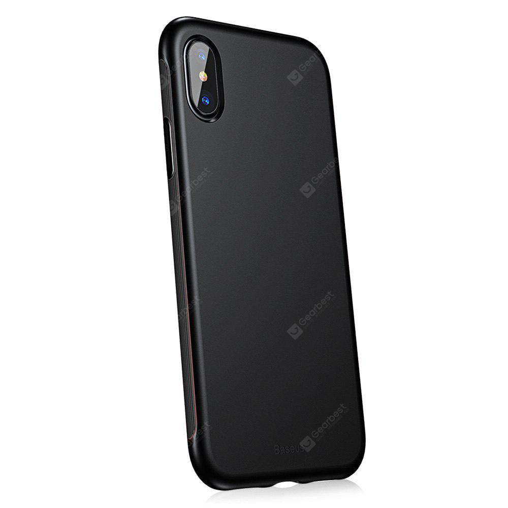 Baseus Case TPE Frame TPU Protective Back Cover for iPhone X