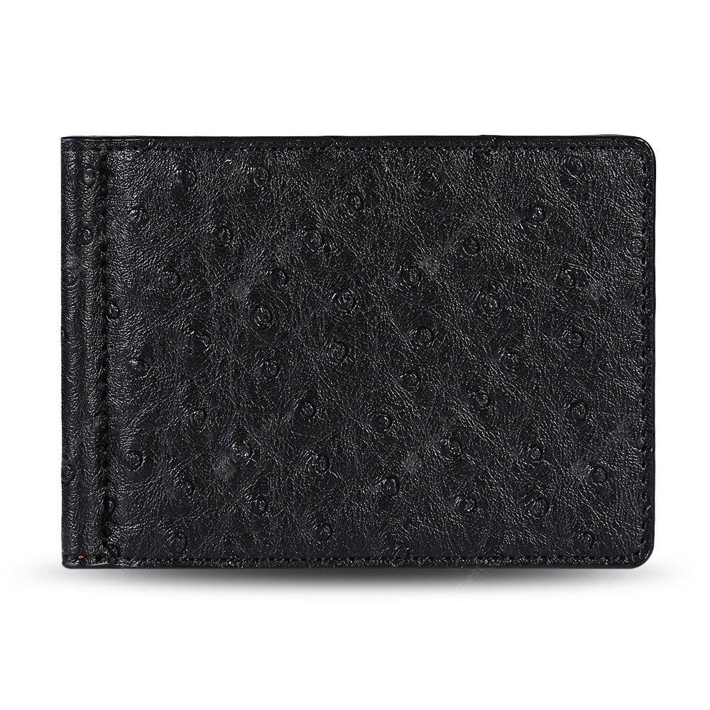 FLAMA Stylish PU Press Imprimir Cash Clip Men Card Wallet
