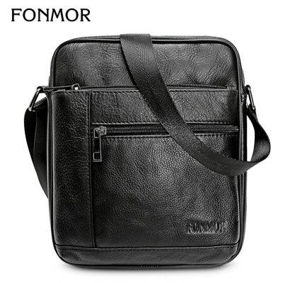 FONMOR Genuine Leather Men Shoulder Crossbody Bag