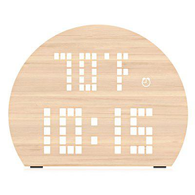 PLUS - DOT Semicircle LED Digital Alarm Clock Voice Control