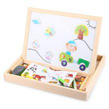 Muwanzi Colorful Wooden Magnetic Drawing Board Puzzle Learning Education Toys for Children