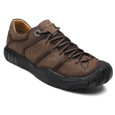 Large Size New First Layer of Leather Handmade Outdoor Casual ShoesMen's Sneakers<br>Large Size New First Layer of Leather Handmade Outdoor Casual Shoes<br><br>Available Size: 39-45<br>Closure Type: Lace-Up<br>Embellishment: Ruched<br>Gender: For Men<br>Occasion: Casual<br>Outsole Material: Rubber<br>Package Contents: 1xShoes(pair)<br>Pattern Type: Solid<br>Season: Spring/Fall<br>Toe Shape: Round Toe<br>Toe Style: Closed Toe<br>Upper Material: Full Grain Leather<br>Weight: 1.2000kg