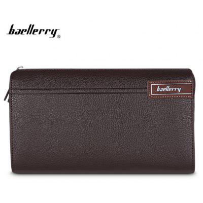 Baellerry Men Wallet Coin Pocket Long Zipper Business Clutch