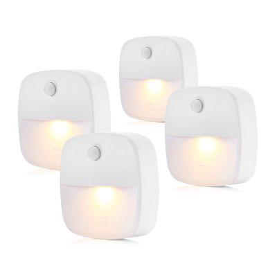 YOC 4PCS Stick-on Motion Sensor Warm White LED Night Light