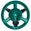 Automatic Garden Water Sprinkler with 360 Degree Spray Head - GREEN AND BLACK