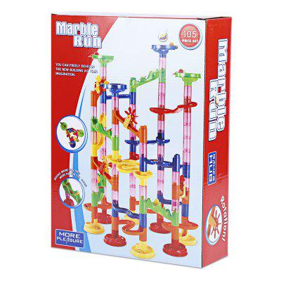 678 7 Track Marble Run Blocks Diy Construction Race