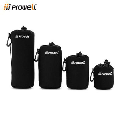 PROWELL 4PCS Durable Protective Neoprene Lens Pouch Cases