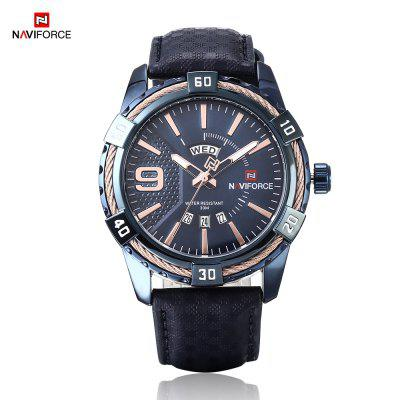 NAVIFORCE 9117L Wasserdicht Business Quarzuhr
