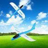 Foam Glider Hand Throwing Flying Airplane Model Toy 1pc - BLUE