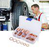 120pcs Solid Copper Washers Flat Ring Sump Plug Oil Seal - COPPER COLOR