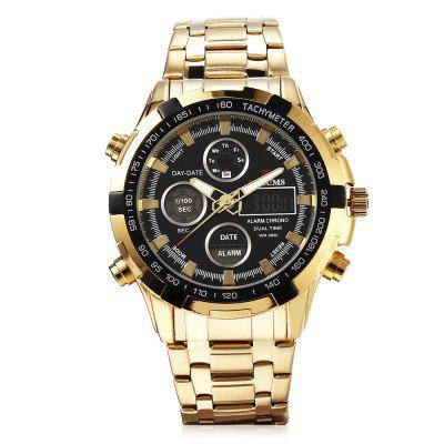 MIZUMS 8001 Male Digital Quartz Big Dial Wristwatch for MenLED Watches<br>MIZUMS 8001 Male Digital Quartz Big Dial Wristwatch for Men<br><br>Band Length: 0.71 inch<br>Band Material Type: Stainless Steel<br>Band Width: 22mm<br>Case material: Stainless Steel<br>Case Shape: Round<br>Case Thickness: 14mm<br>Clasp type: Butterfly Buckle<br>Dial Diameter: 1.34 inch<br>Dial Display: Analog-Digital<br>Dial Window Material Type: Hardlex<br>Gender: Men<br>Movement: Digital,Quartz<br>Package Contents: 1 x Watch<br>Package Size(L x W x H): 8.20 x 11.20 x 6.30 cm / 3.23 x 4.41 x 2.48 inches<br>Package weight: 0.2520 kg<br>Product Size(L x W x H): 23.00 x 5.00 x 1.40 cm / 9.06 x 1.97 x 0.55 inches<br>Product weight: 0.1670 kg<br>Style: Sport<br>Water Resistance Depth: 30m