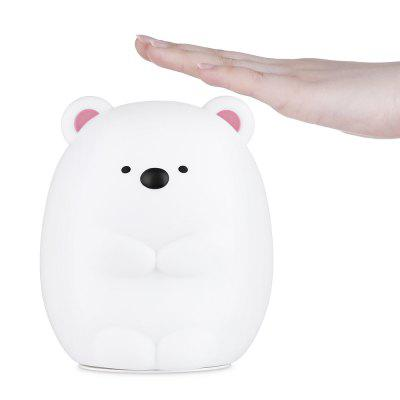 JM - 03 LED Rechargeable Silicone Bear Night Light for BedroomNight Lights<br>JM - 03 LED Rechargeable Silicone Bear Night Light for Bedroom<br><br>Is Batteries Included: Yes<br>Is Batteries Required: Yes<br>Is Bulbs Included: Yes<br>Light Source: LED Bulbs<br>Package Contents: 1 x Night Light, 1 x USB Cable<br>Package Size(L x W x H): 12.50 x 12.50 x 15.00 cm / 4.92 x 4.92 x 5.91 inches<br>Package weight: 0.2930 kg<br>Product weight: 0.2170 kg<br>Type: Atmosphere, Night Light<br>Wattage: 0-5W