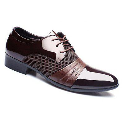 Men Lace-up Pointed Toe PU Leather Business ShoesFormal Shoes<br>Men Lace-up Pointed Toe PU Leather Business Shoes<br>